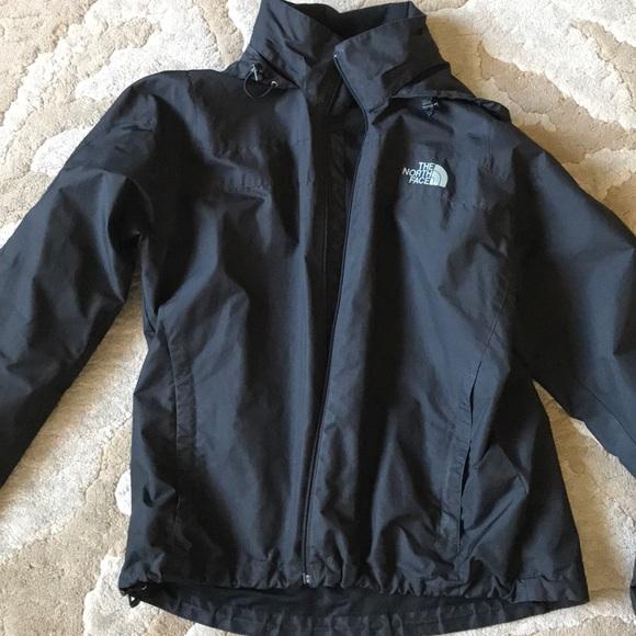 Black The North Face rain jacket